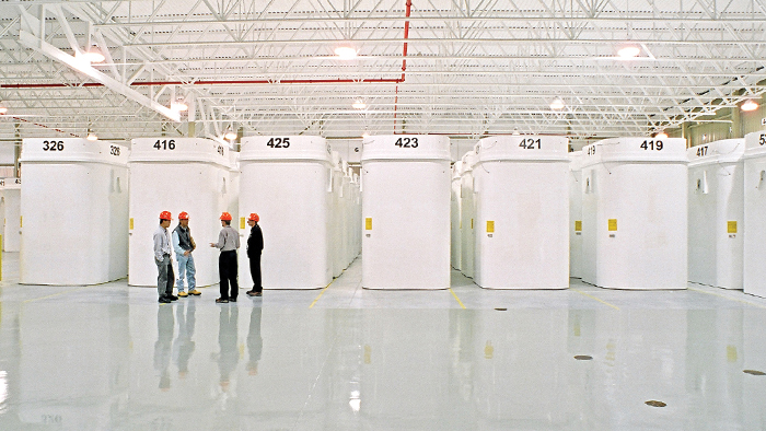 This is an image of an interim dry storage facility where used nuclear fuel is stored today.