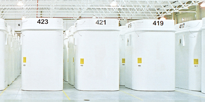 A photo of dry storage containers