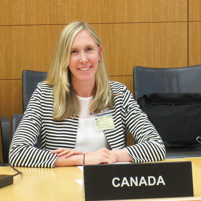 One of the international groups the NWMO participates in is the Nuclear Energy Agency's Expert Group on Operational Safety (EGOS). The NWMO's Kelly Liberda, pictured here, participated in the two meetings of the EGOS this year.