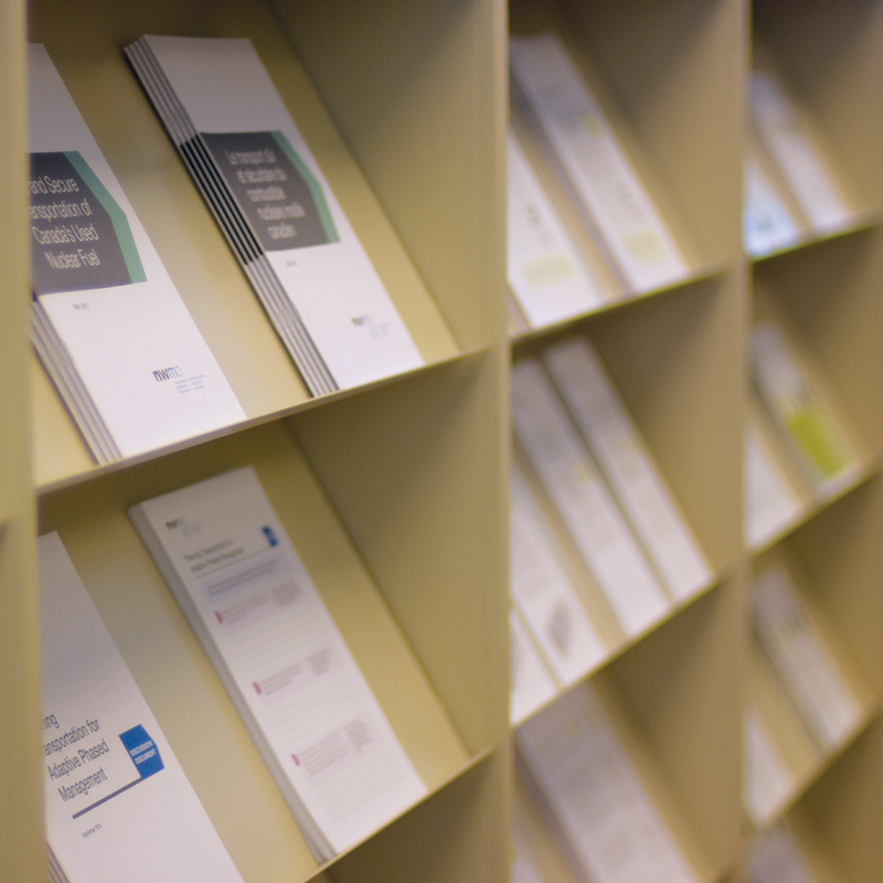 This image shows documents on a shelf