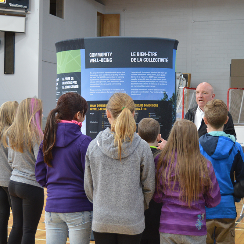 Students visit Elliot Lake open house.