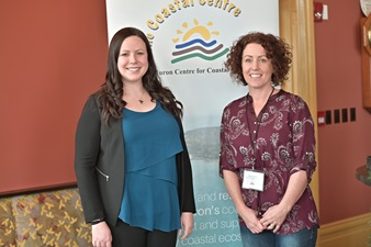 Erinn Lawrie, Executive Director of the Lake Huron Centre for Coastal Conservation and Becky Smith, Regional Communications Manager for the Nuclear Waste Management Organization.
