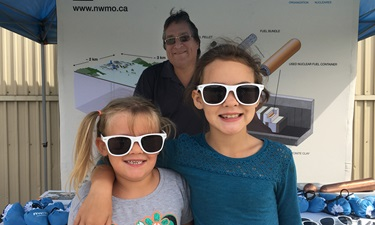 This photo shows a picture of the NWMO booth at the Mildmay-Carrick Fall Fair.