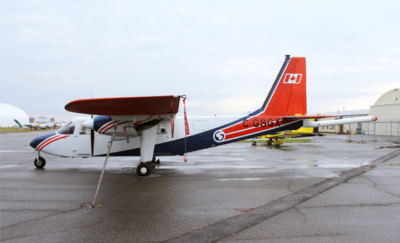 This is an image of the type of aircraft that will be used to collect the survey data.