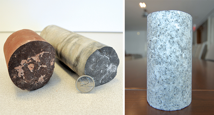 Examples of core samples
