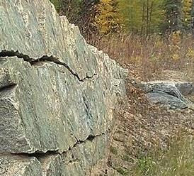 This is a generic image of rock located out in a study area.