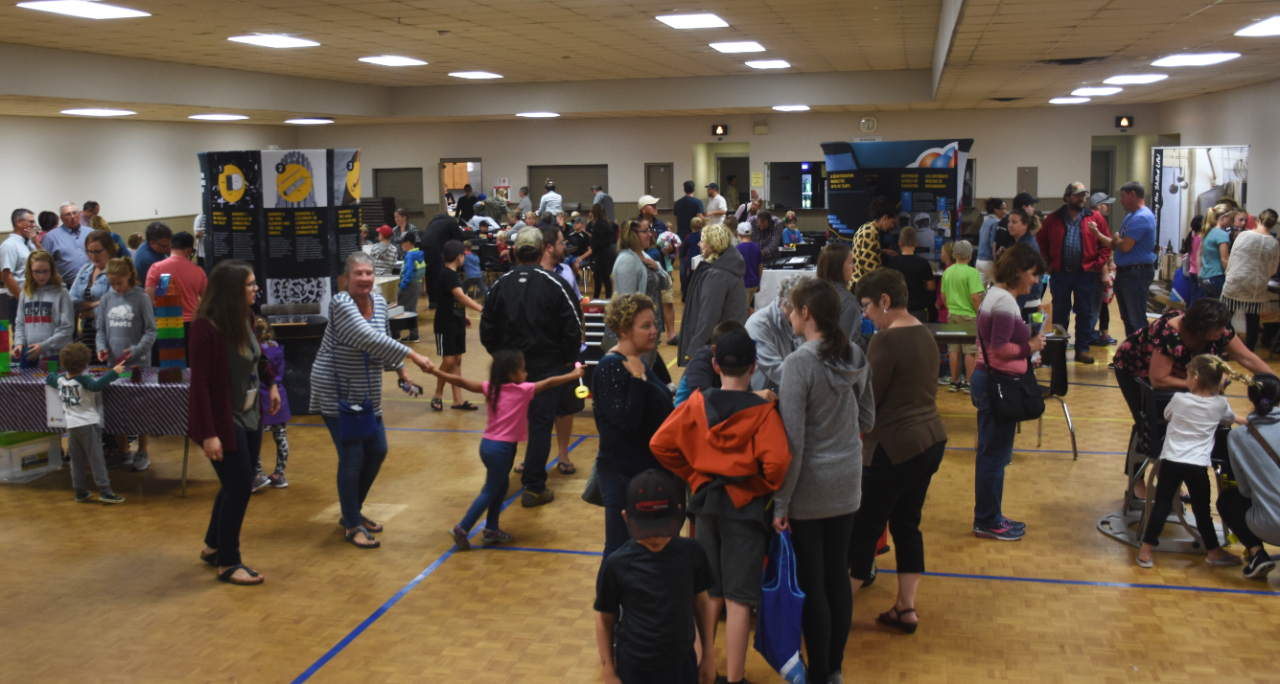 Kids, parents and grandparents filled the Mildmay-Carrick Recreation Complex on Sept. 26 for a fun-filled night of science.